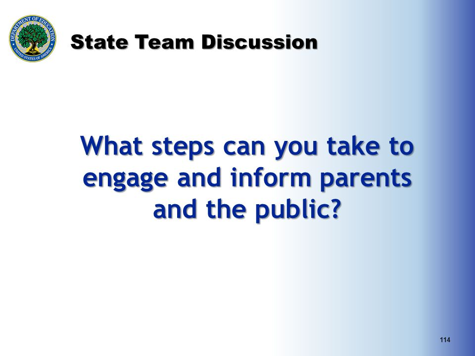 What steps can you take to engage and inform parents and the public