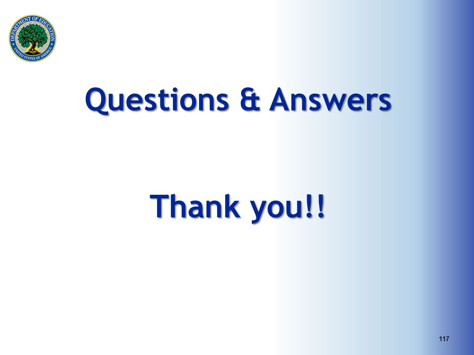Questions & Answers Thank you!!