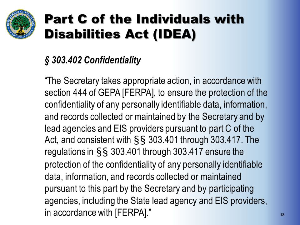 Part C of the Individuals with Disabilities Act (IDEA)