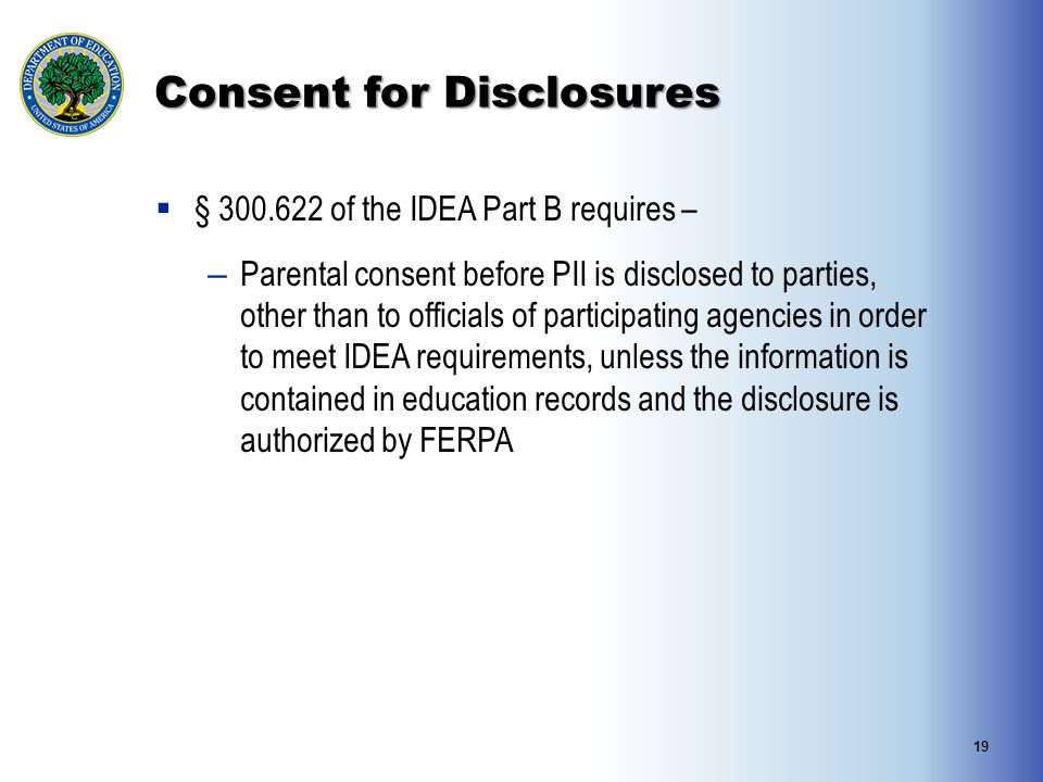 Consent for Disclosures