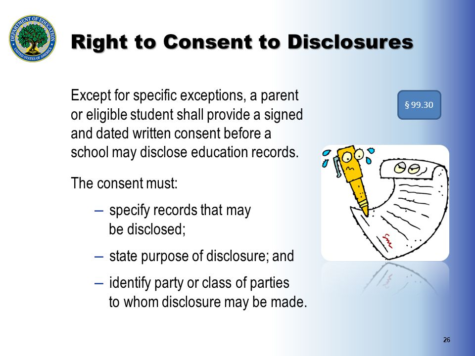 Right to Consent to Disclosures