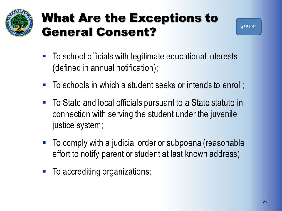 What Are the Exceptions to General Consent