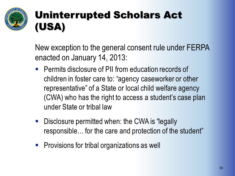 Uninterrupted Scholars Act (USA)