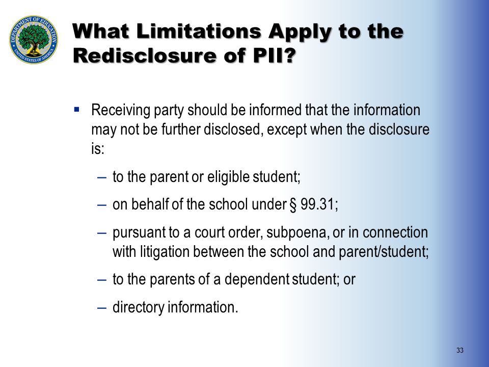 What Limitations Apply to the Redisclosure of PII