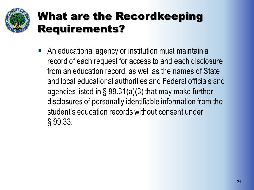 What are the Recordkeeping Requirements