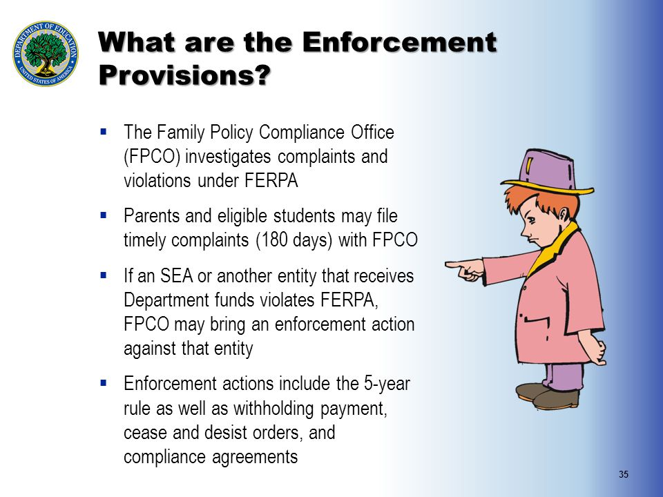 What are the Enforcement Provisions
