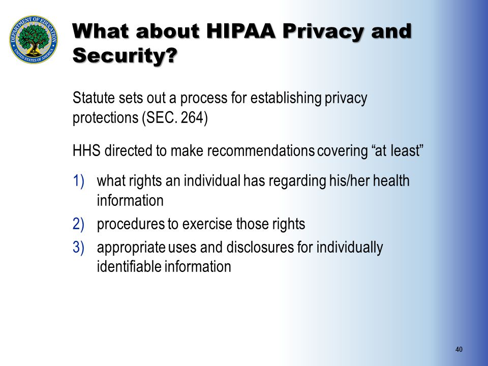 What about HIPAA Privacy and Security