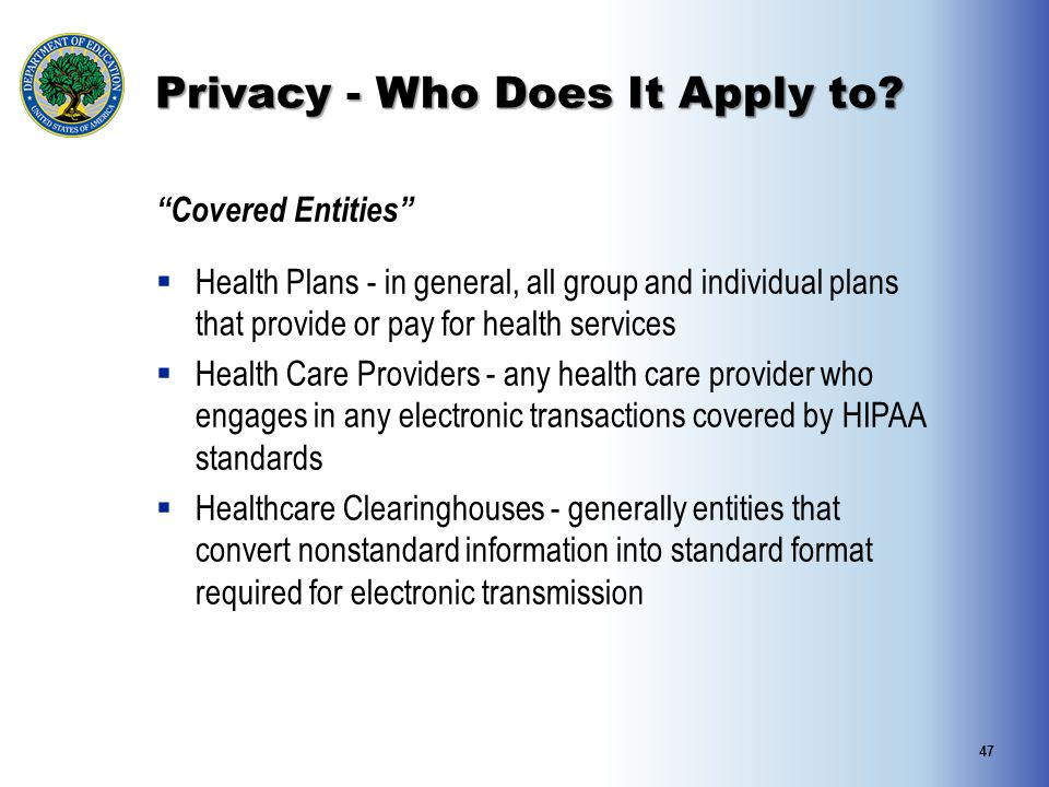 Privacy - Who Does It Apply to
