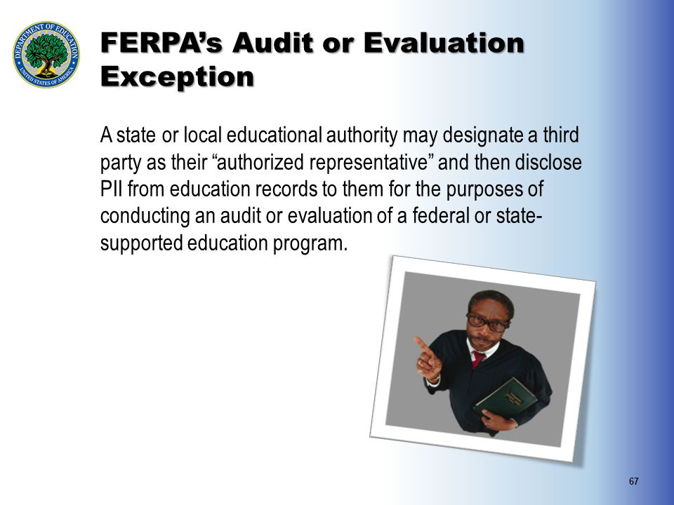 FERPA's Audit or Evaluation Exception