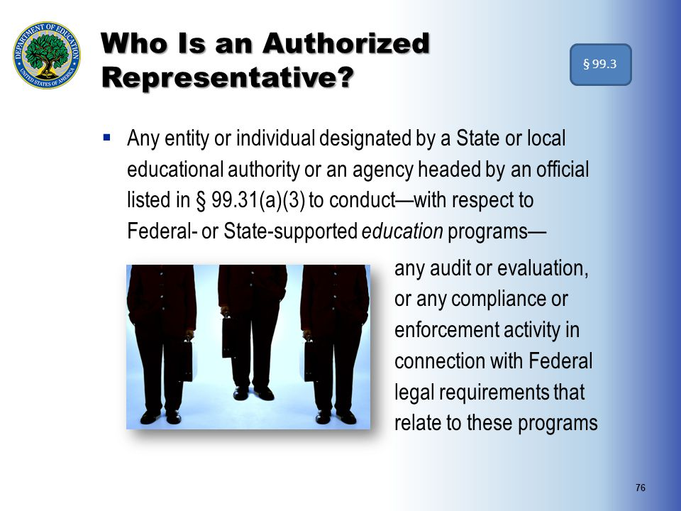 Who Is an Authorized Representative