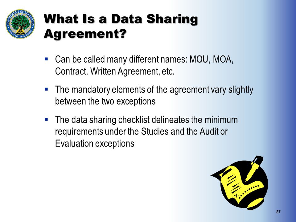 What Is a Data Sharing Agreement