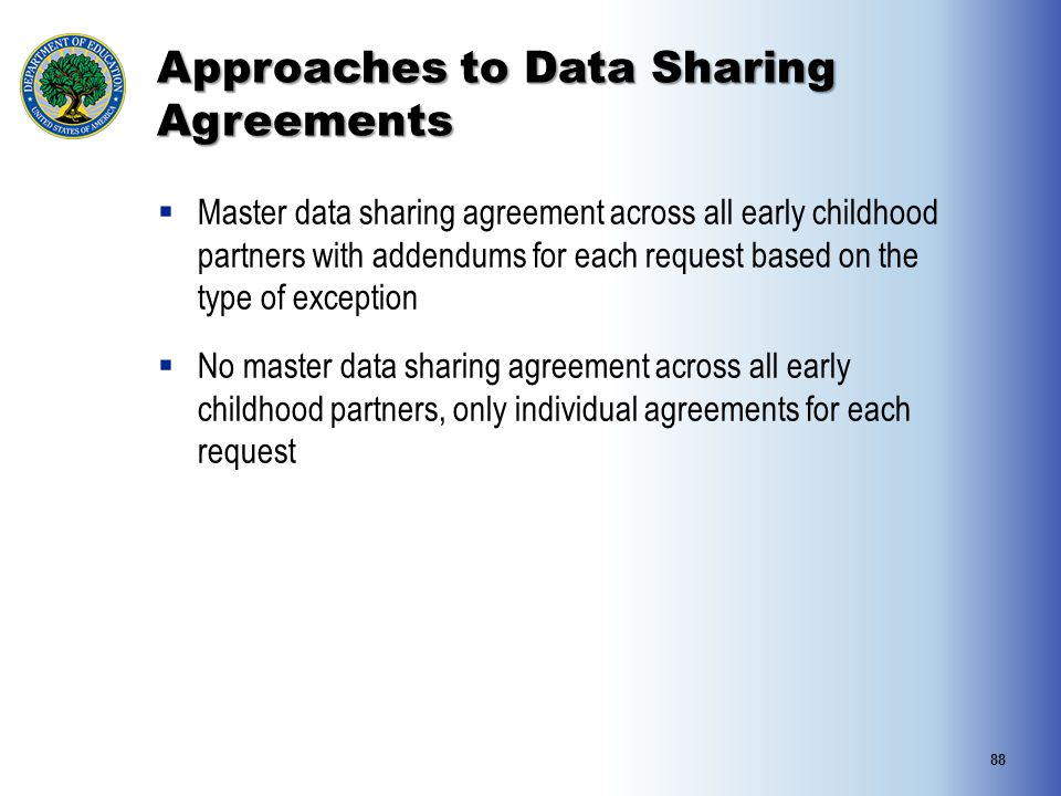 Approaches to Data Sharing Agreements