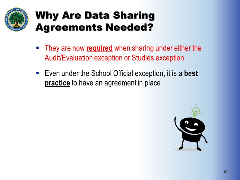 Why Are Data Sharing Agreements Needed