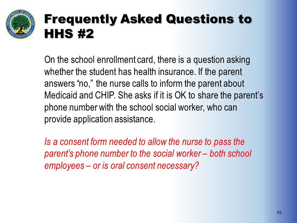 Frequently Asked Questions to HHS #2