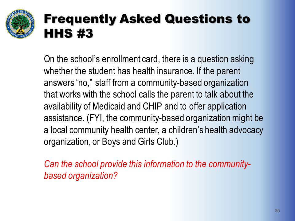 Frequently Asked Questions to HHS #3