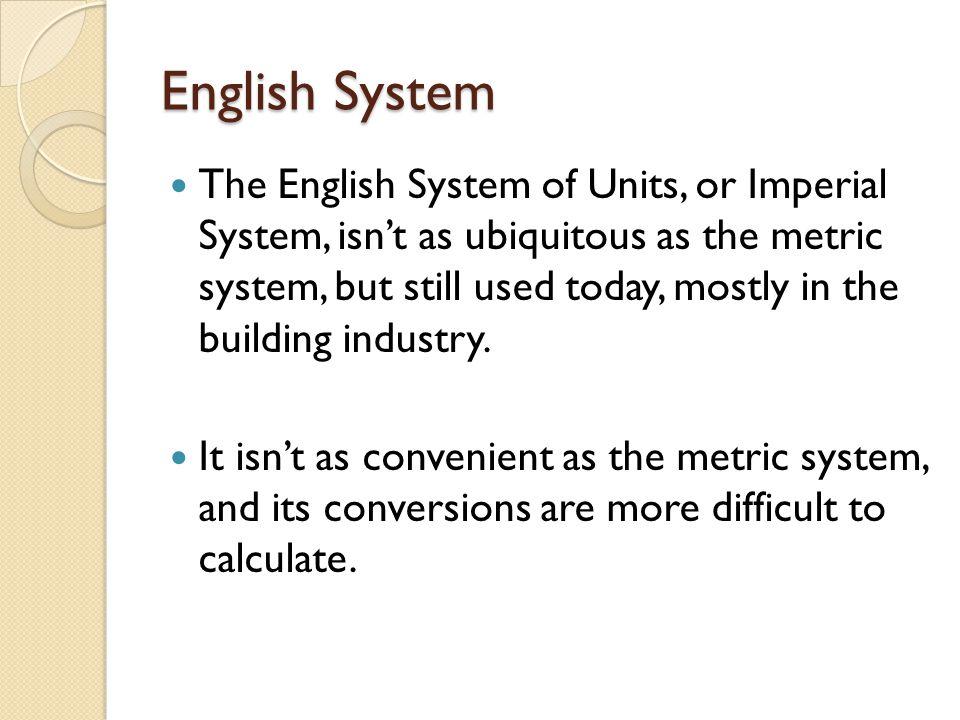 English System