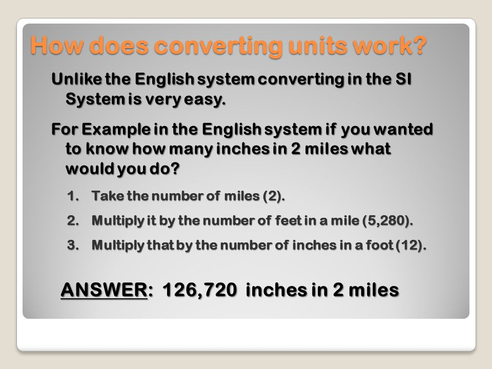 How does converting units work