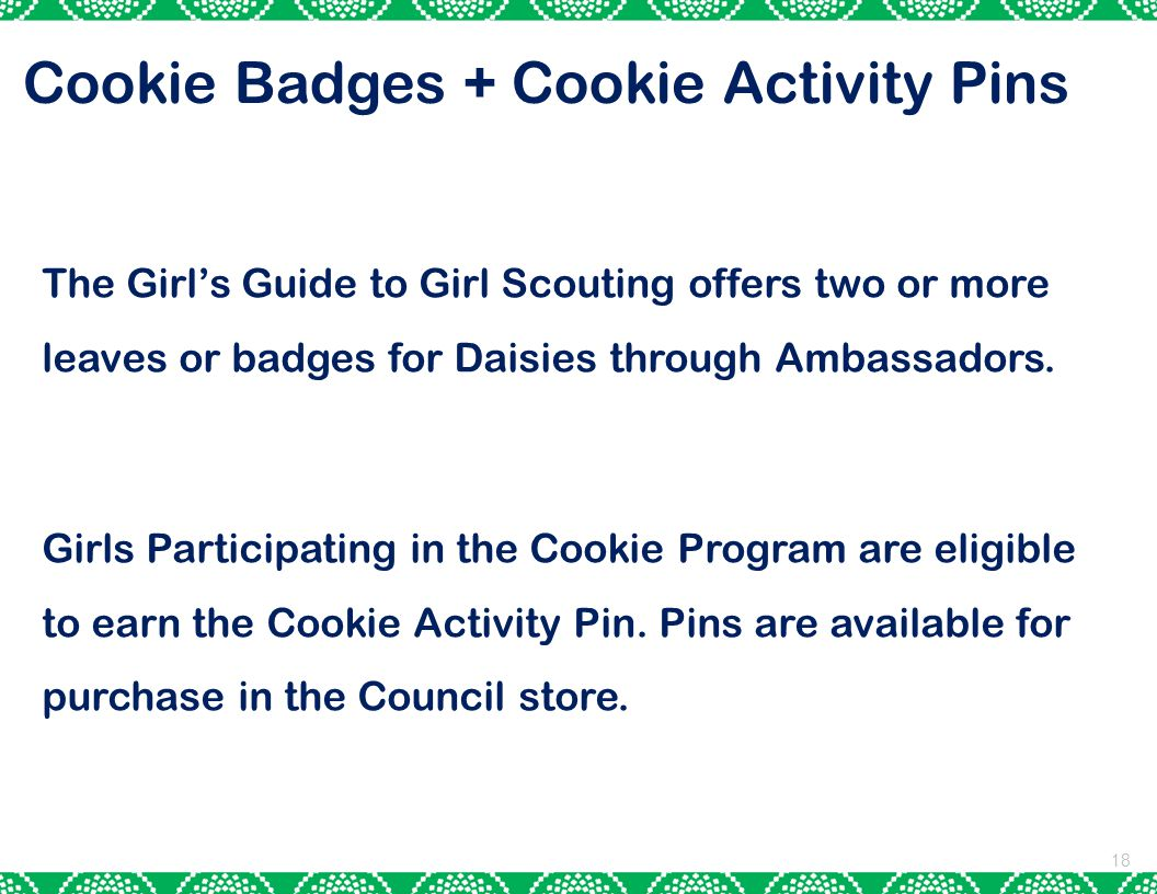 Cookie Badges + Cookie Activity Pins
