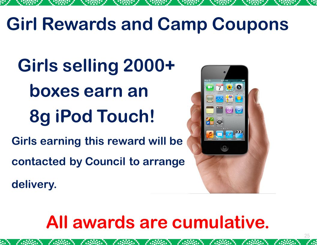 Girl Rewards and Camp Coupons