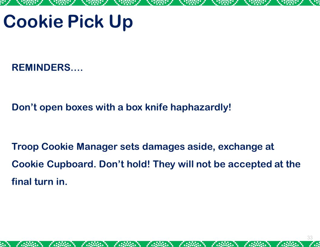 Cookie Pick Up