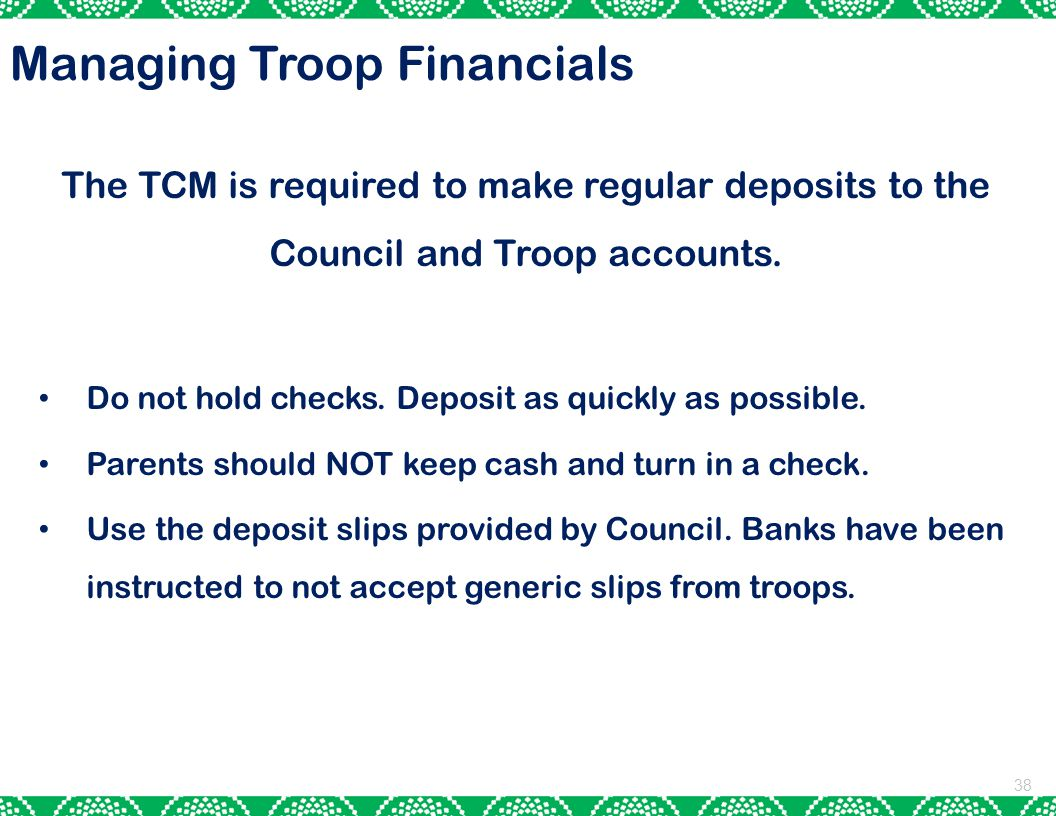 Managing Troop Financials