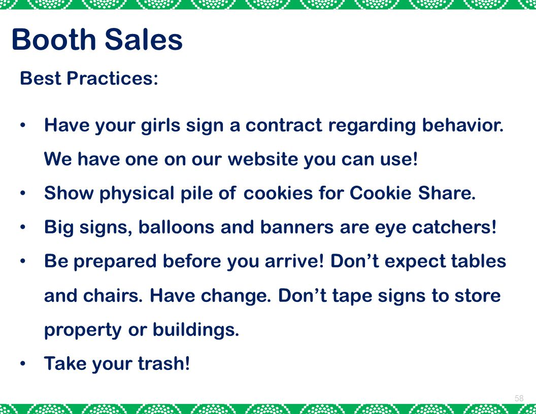 Booth Sales Best Practices: