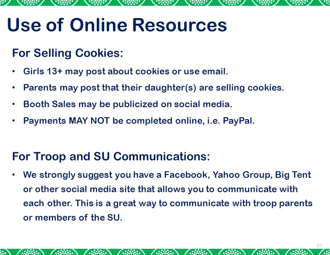 Use of Online Resources