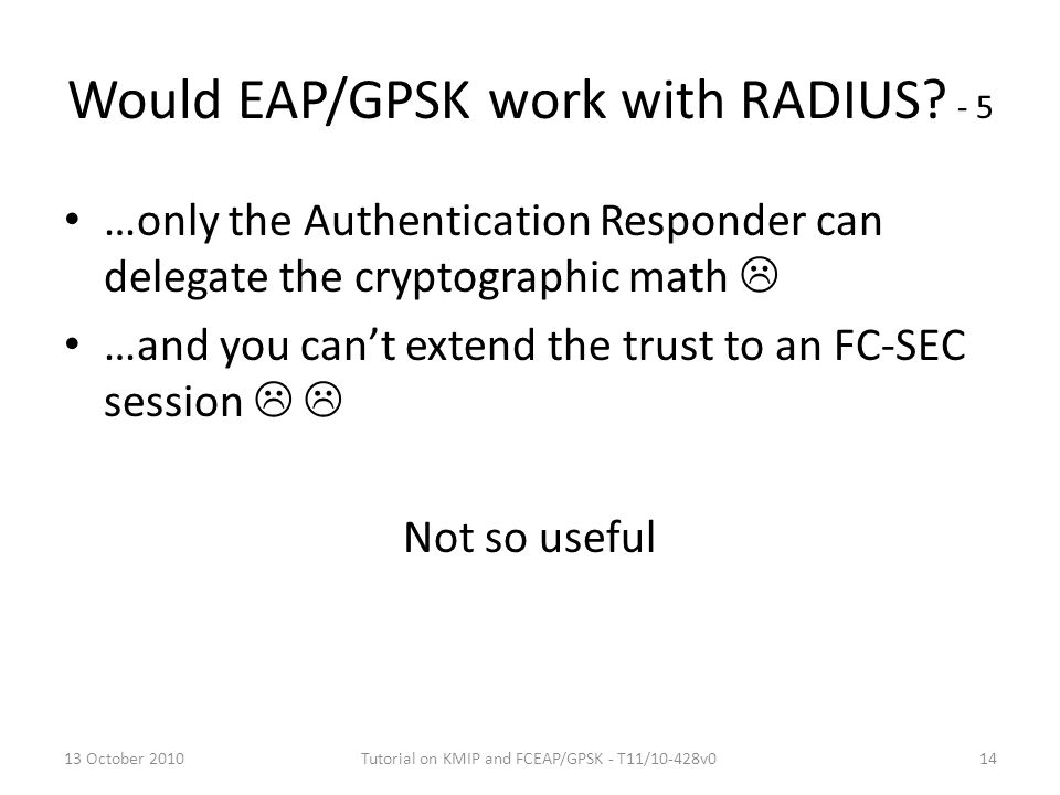 Would EAP/GPSK work with RADIUS - 5