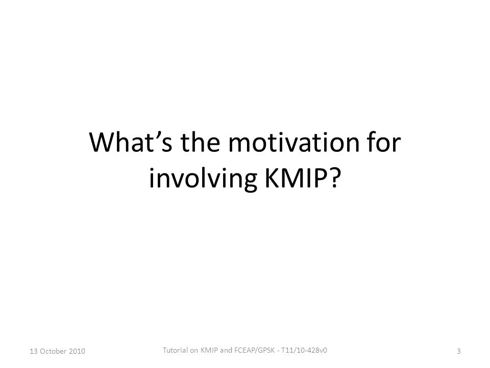 What's the motivation for involving KMIP