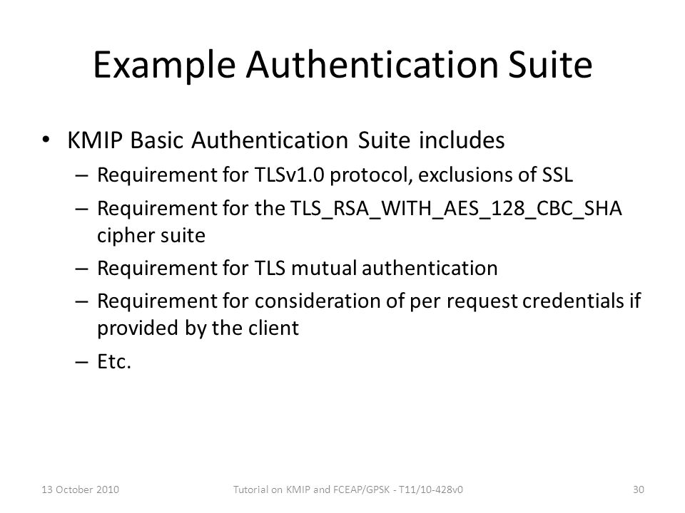Example Authentication Suite