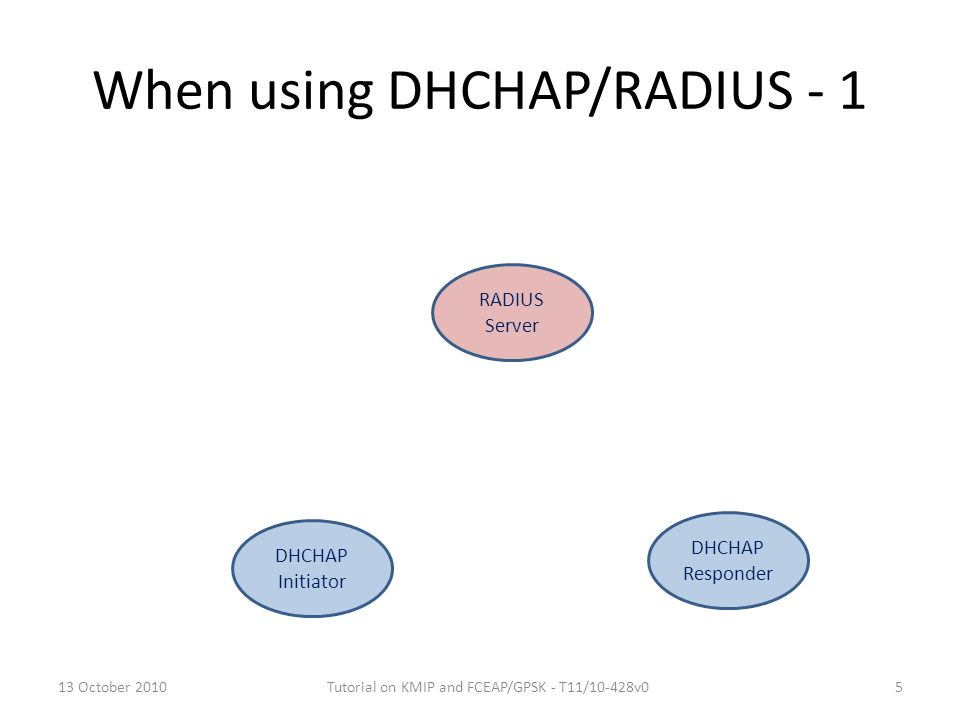 When using DHCHAP/RADIUS - 1