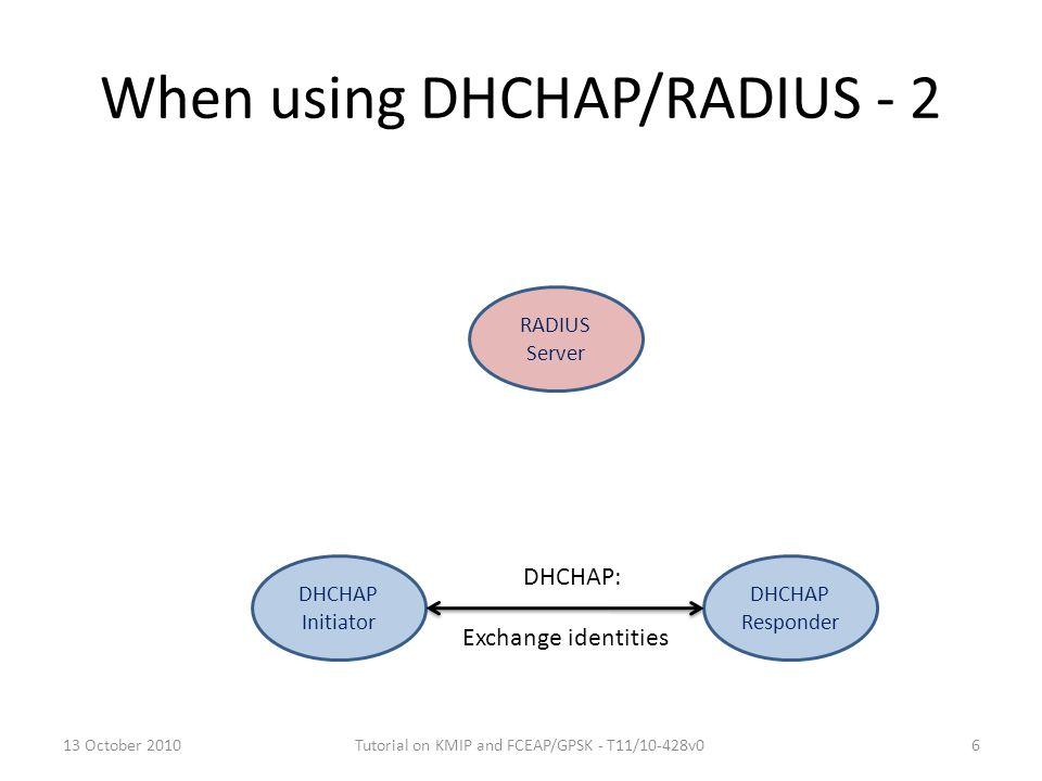 When using DHCHAP/RADIUS - 2