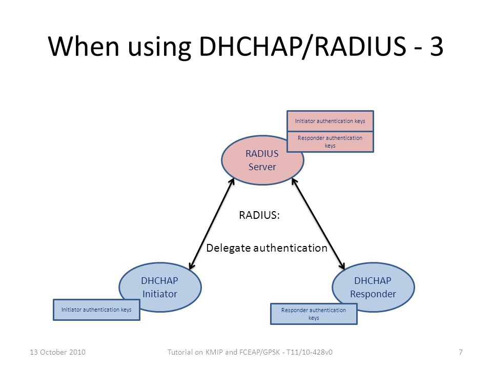 When using DHCHAP/RADIUS - 3