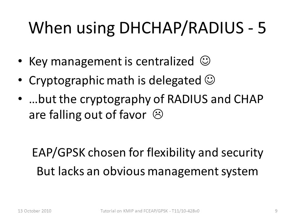 When using DHCHAP/RADIUS - 5