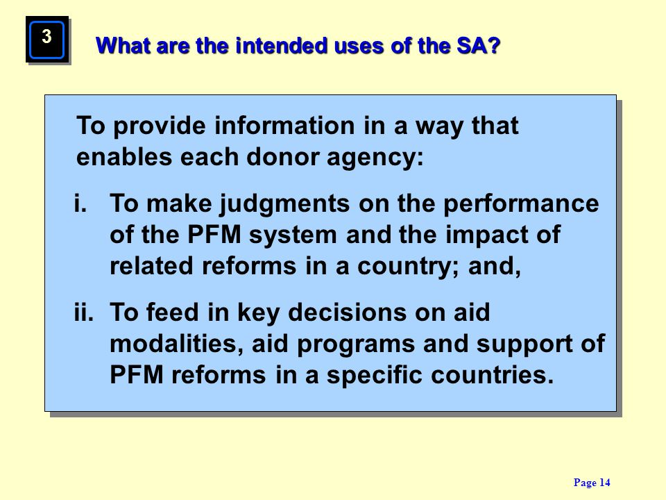 What are the intended uses of the SA
