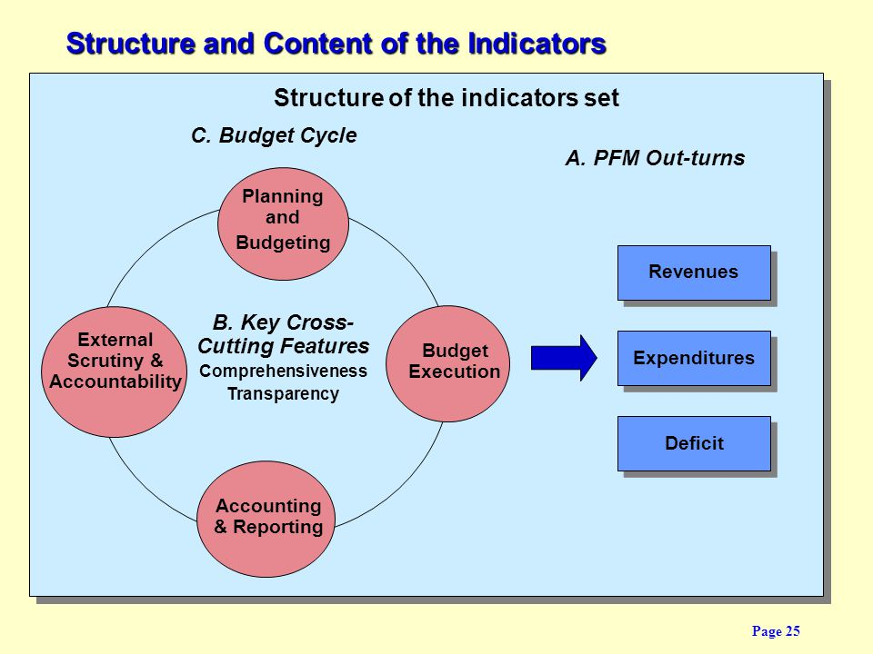 Structure and Content of the Indicators