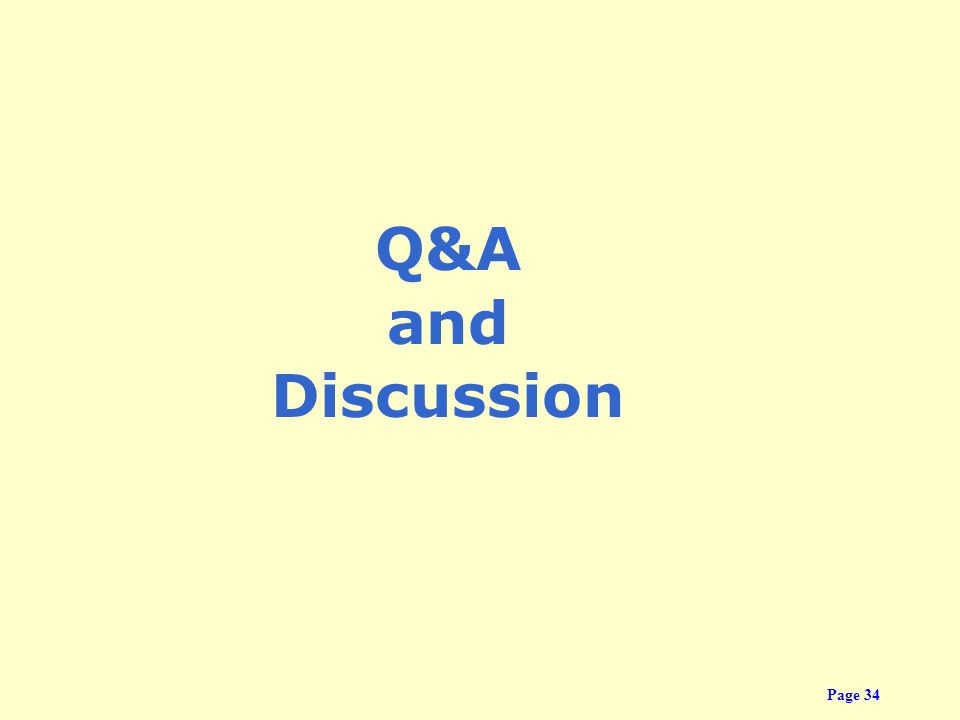 Q&A and Discussion