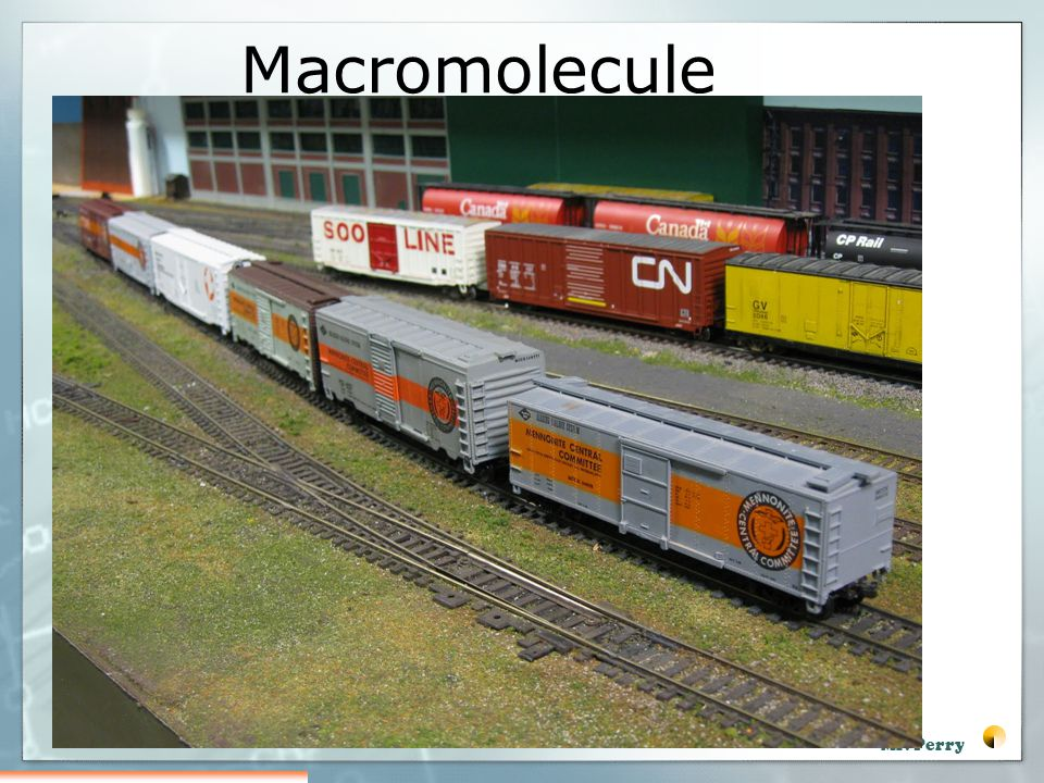 Macromolecule Like a train Made up of boxcars All linked together