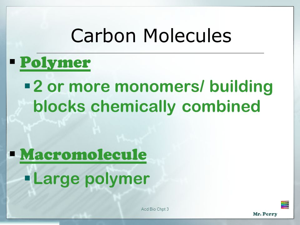 Carbon Molecules Polymer