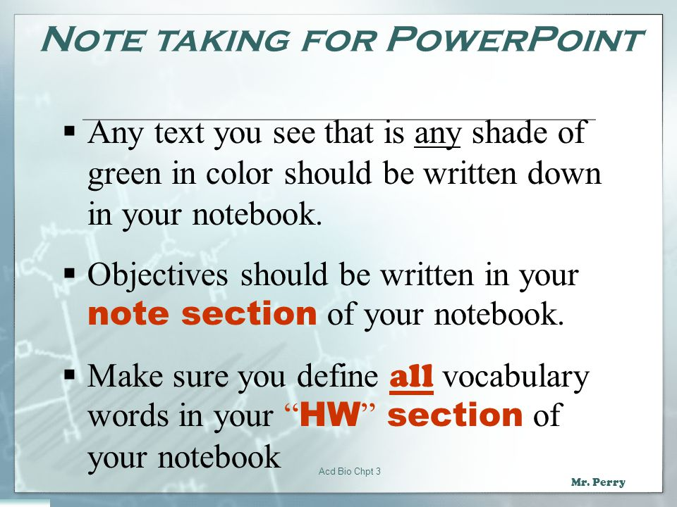 Note taking for PowerPoint