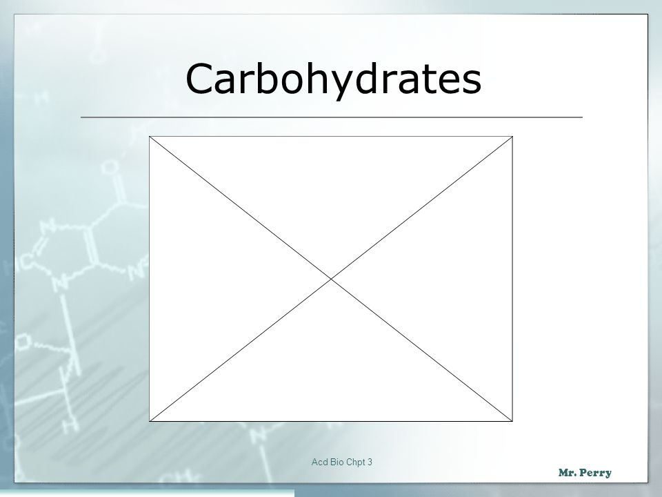Carbohydrates Acd Bio Chpt 3