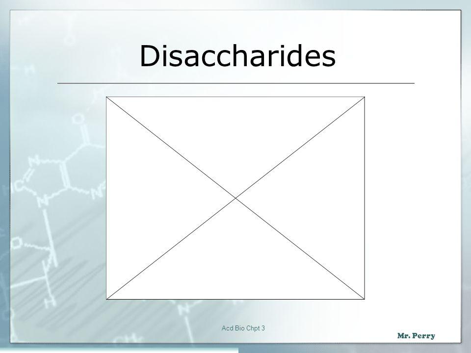 Disaccharides Acd Bio Chpt 3