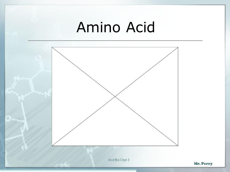 Amino Acid Acd Bio Chpt 3