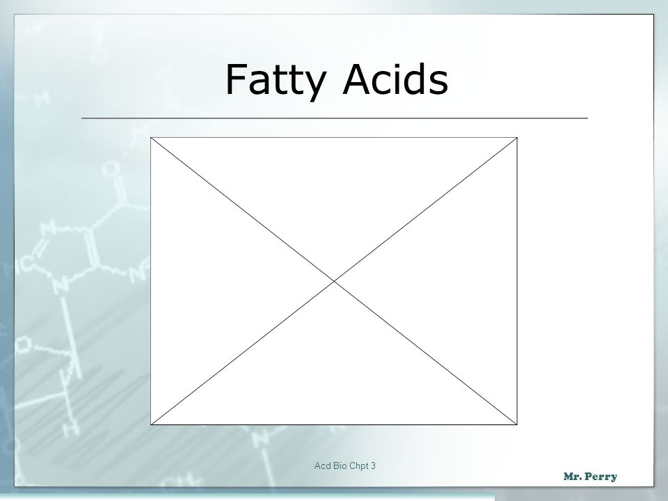 Fatty Acids Acd Bio Chpt 3