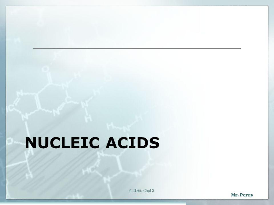 Nucleic Acids Acd Bio Chpt 3