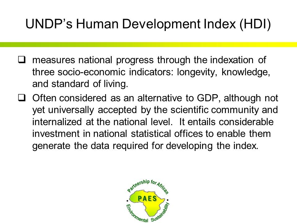 UNDP's Human Development Index (HDI)
