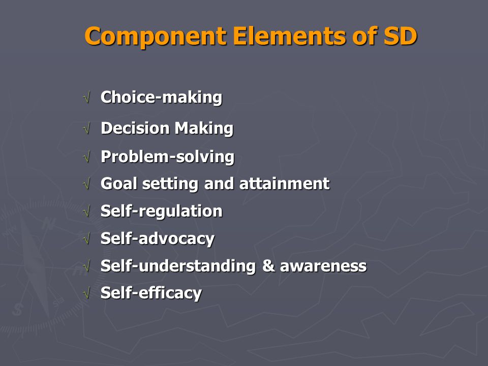 Component Elements of SD