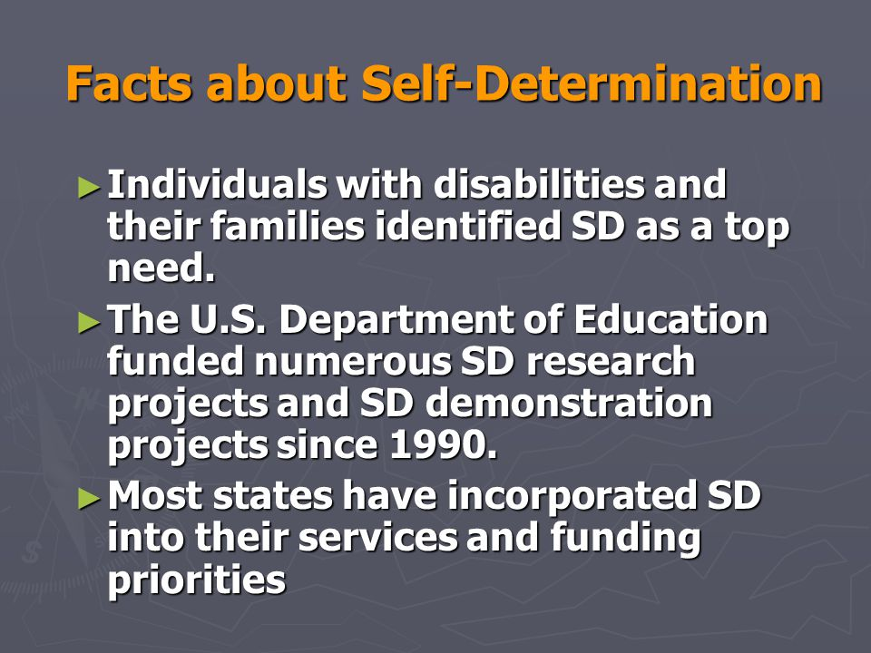 Facts about Self-Determination