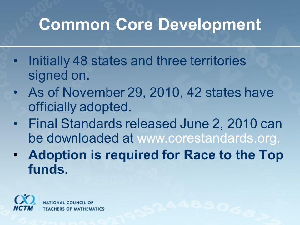 Common Core Development