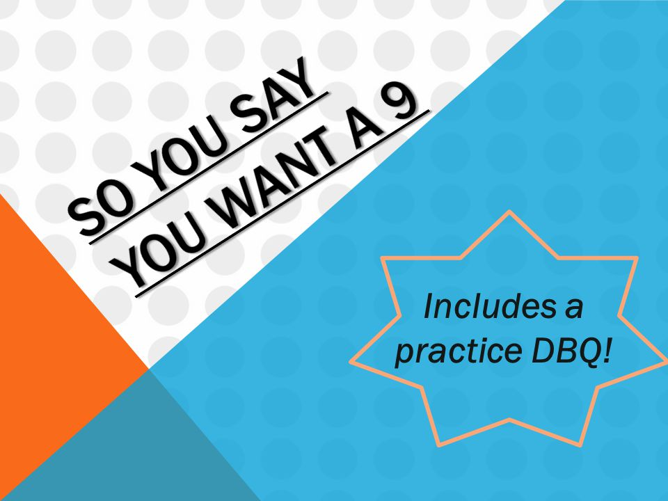 Includes a practice DBQ!